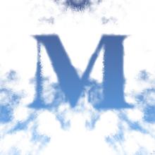 Эффект текста в облаках