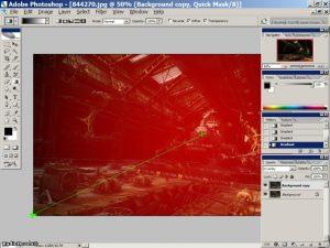 Градиент растяжка - Работа со светом в Фотошопе