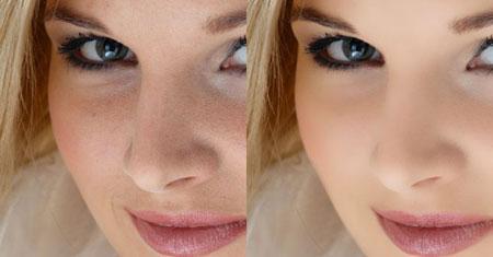 ретушь лица в фотошопе